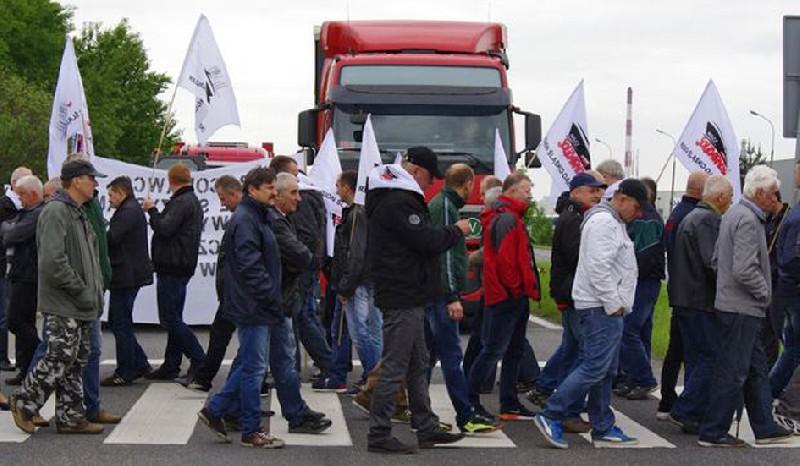 blokada pod fiatem solidarnosc