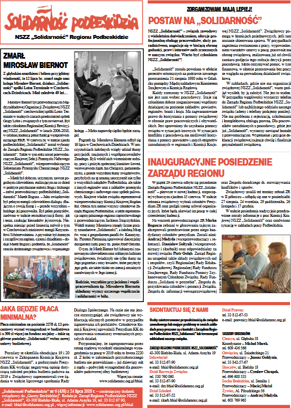 Tygodniik Solidarność lipiec 2018