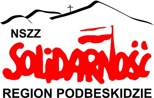 SP logo z górami i krzyżem