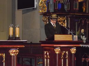 Przewodnicząca KSPL podczas uroczystego koncertu w Krakowie