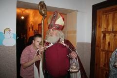 Hutniczy Mikołaj z wizytą u dzieci na ul. Słubickiej