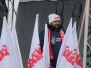 Kilkaset osób na pikiecie Solidarności w Volkswagen Motor Polska