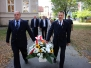 Związkowcy złożyli kwiaty pod pomnikiem Papieża
