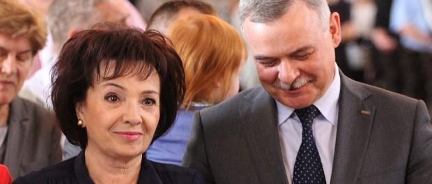 Elżbieta Witek i Bogdan Orłowski