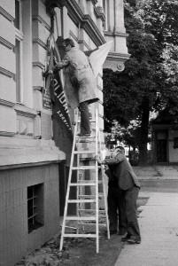 Pierwsza siedziba Solidarności na Roosevelta