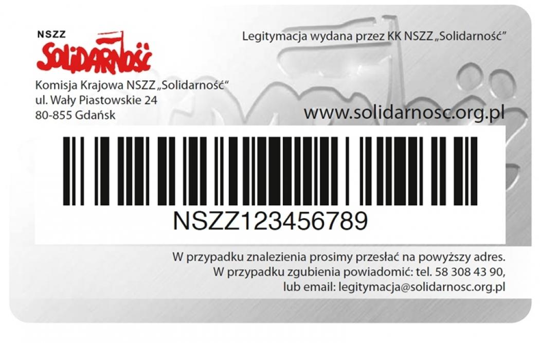 """Elektroniczna Legitymacja Członkowska NSZZ """"Solidarność"""" oraz partnerski program rabatowy"""