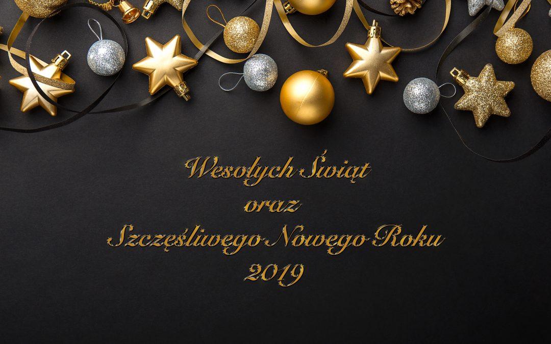 Wesołych Świąt oraz Szczęśliwego Nowego Roku 2019