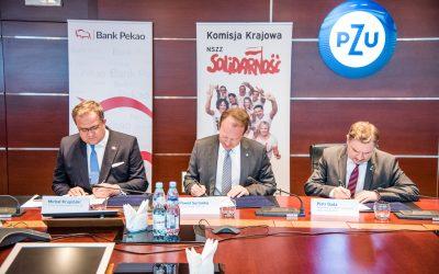 """Podpisaliśmy list intencyjny z PZU SA oraz PEKAO SA w sprawie programu rabatowego dla wszystkich członków NSZZ """"Solidarność"""""""