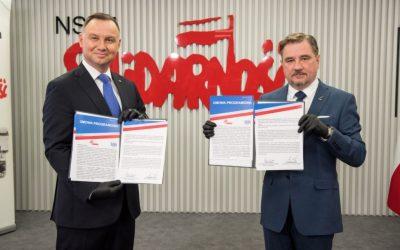 Umowa programowa z Prezydentem Andrzejem Dudą