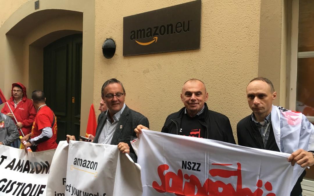 Bez dialogu w Amazon – pikieta w Luksemburgu