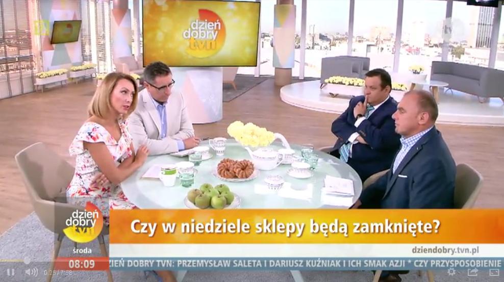Ograniczenie handlu w niedziele – rozmowa w programie Dzień Dobry TVN oraz RzeczOPolityce