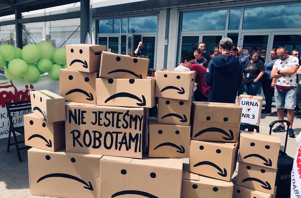 Referendum strajkowe w Amazonie Sosnowiec