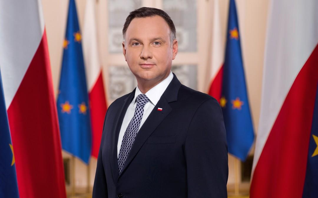Gratulacje dla  Prezydenta RP Andrzeja Dudy