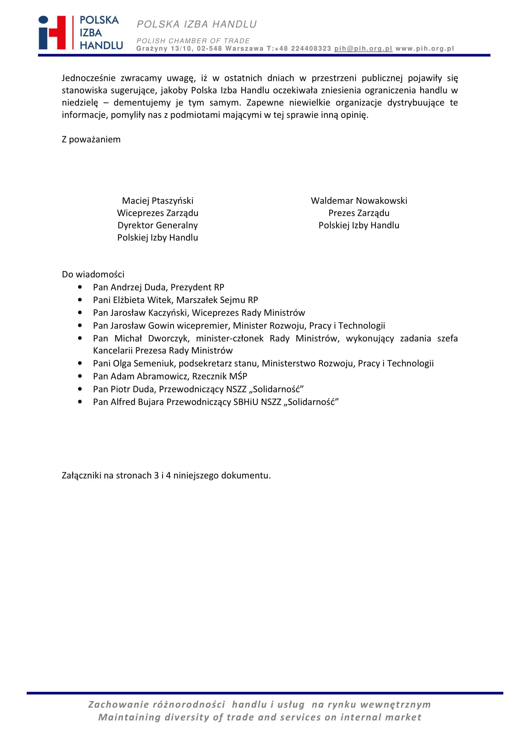 PIH-pismo KPRM 22102020 niedziele-2