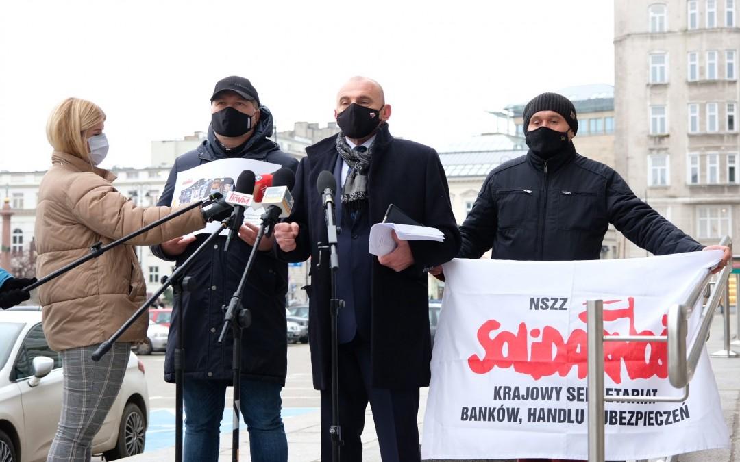 """Konferencja prasowa Krajowej Sekcji Pracowników Handlu NSZZ """"Solidarność"""""""