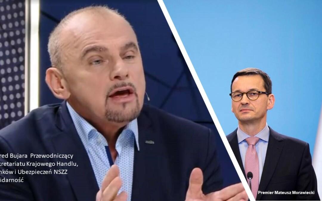 """""""Solidarność"""" handlowa apeluje do Premiera RP"""
